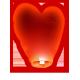 Lanterne Coeur Rouge