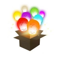 Lanternes Ballon Couleur x6