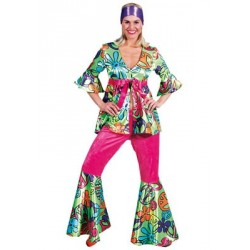 Location costume Hippie Fluo adulte