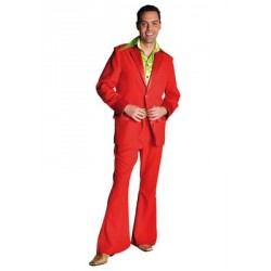 Location costume Disco Travolta rouge adulte