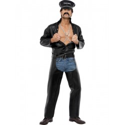 Location costume Biker village people adulte
