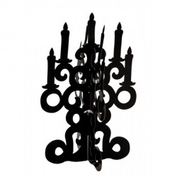 Chandelier Carton Noir 3D