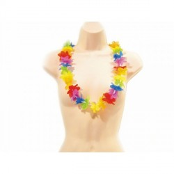 Collier Hawaï Rainbow Multicolore