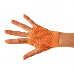 Mitaines Courte Orange Fluo