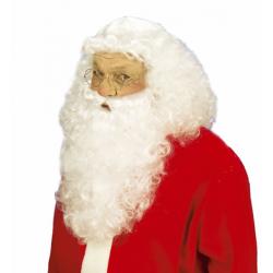 Perruque Père Noël Luxe Naturel + Barbe