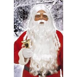 Perruque Père Noël Longue Barbe + Sourcils