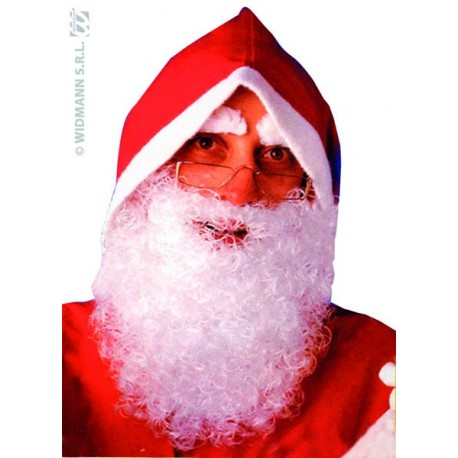 Barbe Père Noël Frisée + sourcils