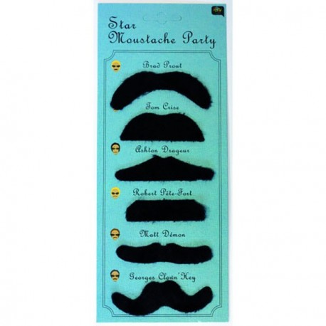 Moustache Noire Star x6