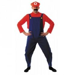 Costume Plombier rouge et bleu