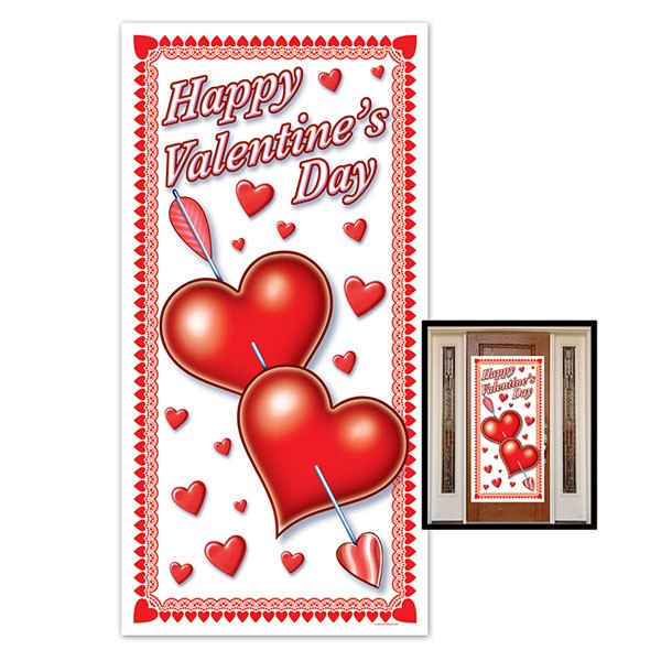 Sticker porte st valentin for Decoration porte st valentin