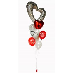 Grappe ballons St Valentin