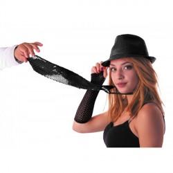 Cravate sequin noir