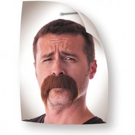 Moustache Kéké marron