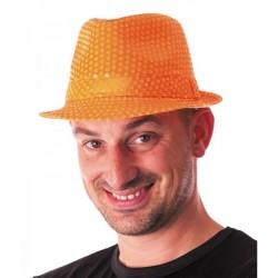 Borsalino Sequin Néon Orange