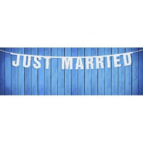 Guirlande Just Married paillettes 170cm