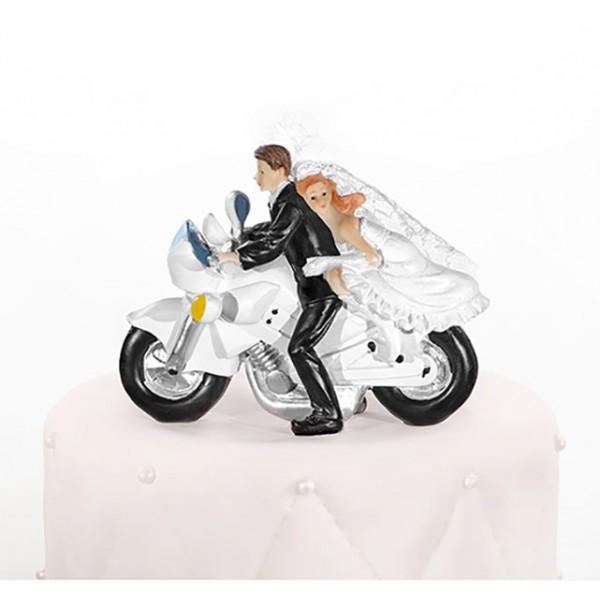 figurine couple mari s moto. Black Bedroom Furniture Sets. Home Design Ideas