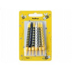 Bougies abeilles x6