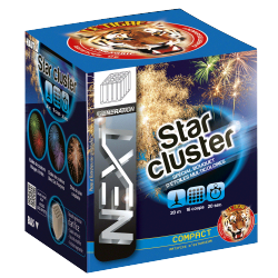 Feux d'artifice compact star cluster 16 coups