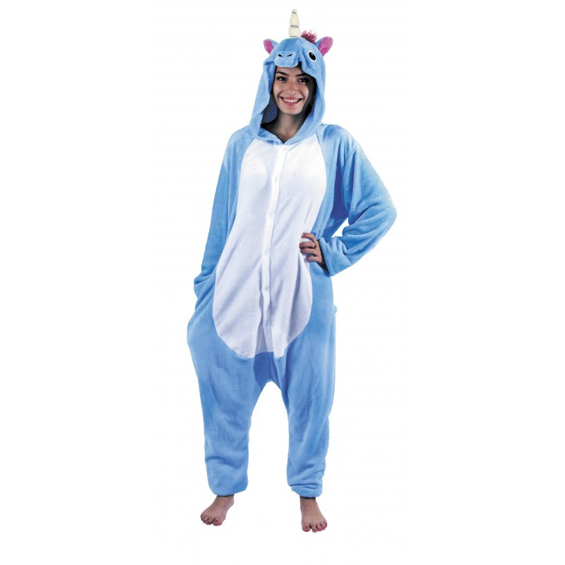 Costume Kigurumi Licorne bleue f727f7014523