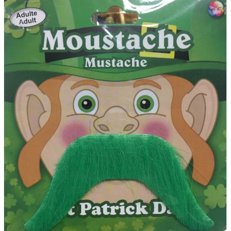 Moustache verte St Patrick