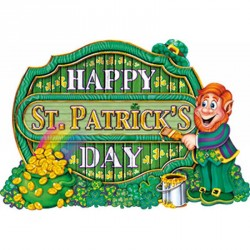 Decoration St Patrick carton