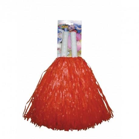 Pompom rouge x2