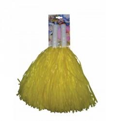 Pompom jaune x2