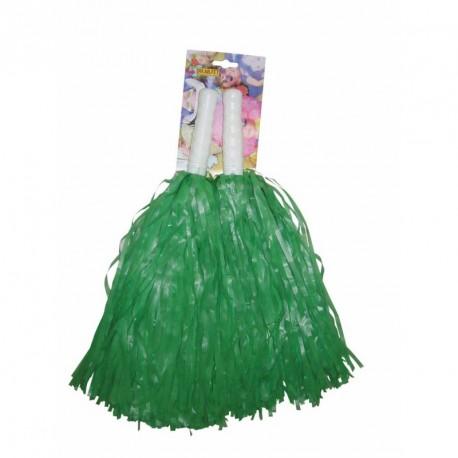 Pompom vert x2