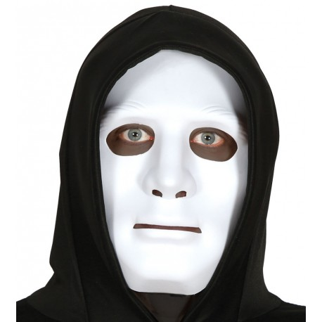 Masque blanc rigide adulte