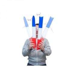 Clap Clap tricolores x2 bleus-blancs-rouges