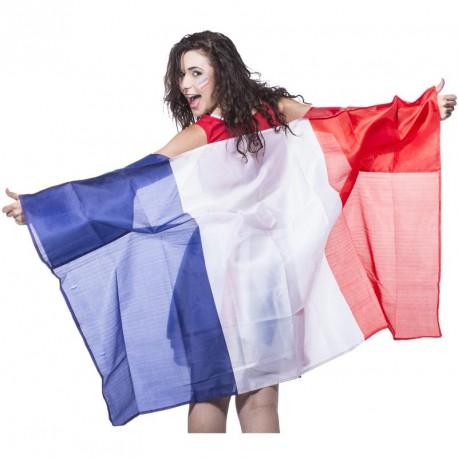Poncho drapeau bleu, blanc, rouge 90x150cm