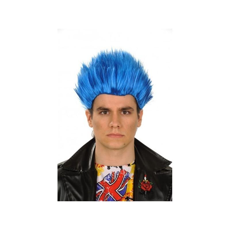 Perruque Manga homme bleue