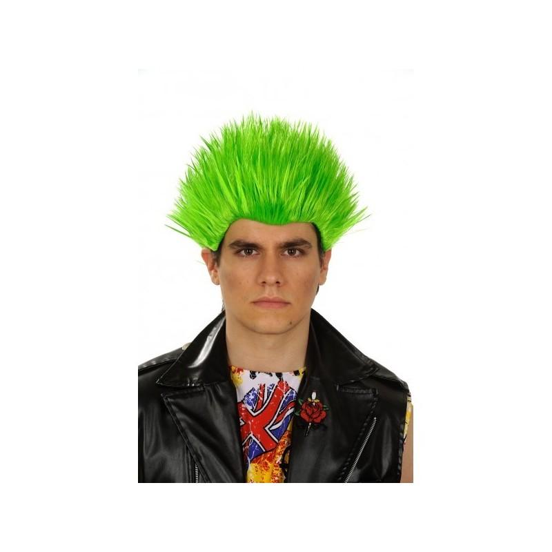 Perruque Manga homme verte