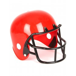Casque footballeur américain rouge