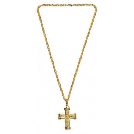 Collier croix métal