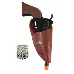Set Cow boy pistolet + holster + insigne