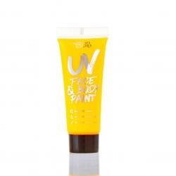 maquillage uv corps et visage jaune