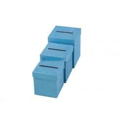 Urne Carré paillettes bleues