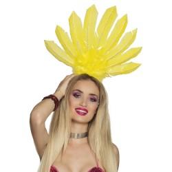 Serre tête plume Samba jaune