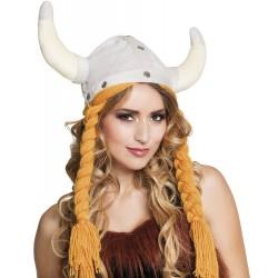 Chapeau Viking femme peluche