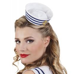 Serre tête béret marin femme
