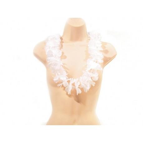 Collier Hawaï blanc