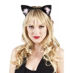 Serre tête oreilles de chat noires adulte