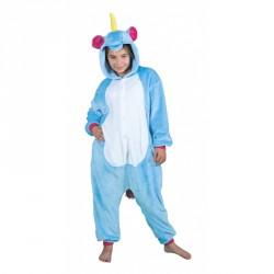 Costume Kigurumi Licorne bleue enfant