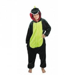 costume Kigurumi dino vert enfant