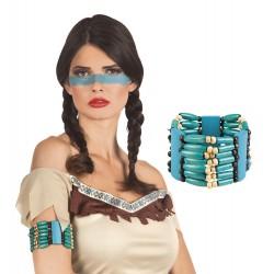 Bracelet Indien perles bleues