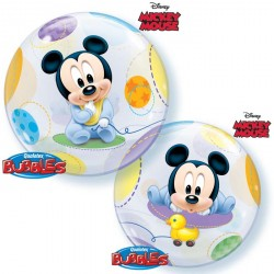 Ballon bubble Mickey naissance 22""