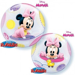 Ballon bubble Minnie naissance 22""