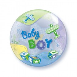 Ballon bubble naissance Baby Boy 22""
