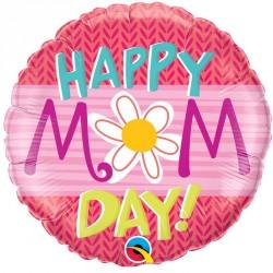 """Ballon aluminium fête des mère """" Happy Mother's Day """" 18"""""""